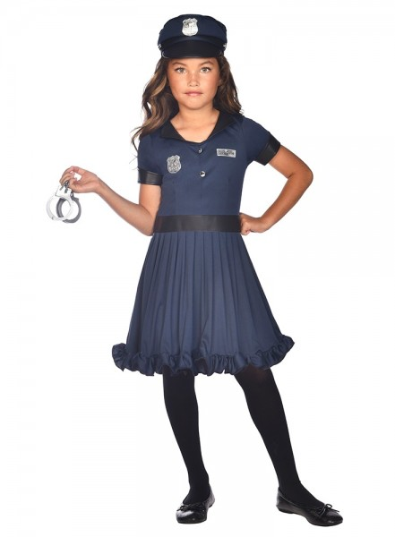 Mini Policewoman Anna Children's Costume
