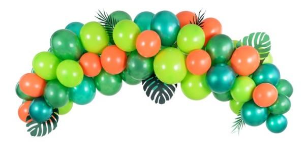 Ensemble de guirlandes de ballons tropicaux