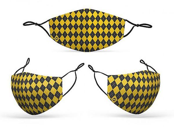 Mund Nasen Maske Zauberschule gelb für Erwachsene