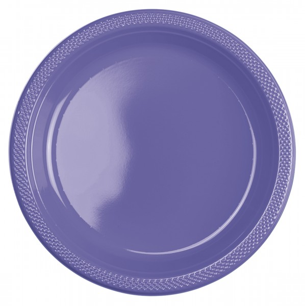 10 Kunststoff Teller Mila lila 22,8cm