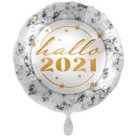 Hallo 2021 Silvester Folienballon 71cm