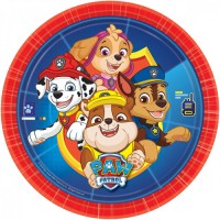8 Paw Patrol Action Pappteller 23cm