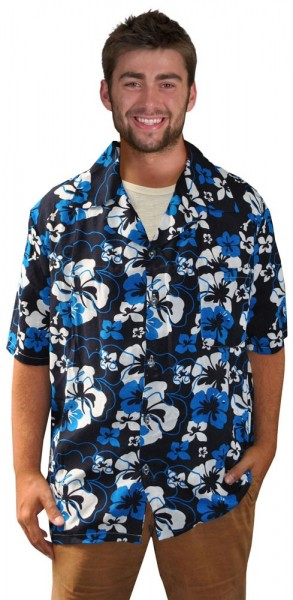 Typowa niebieska koszula męska Hawaii