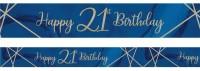 Luxurious 21st Birthday Banner 2,74m