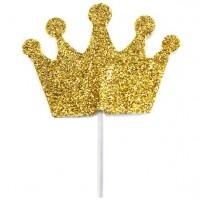 12 goldene Kronen - Tortendeko