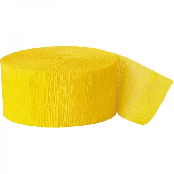 Crepe paper streamer Fiesta yellow 24.6m