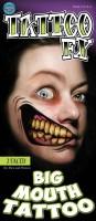 Riesen Mund Horror Tattoo