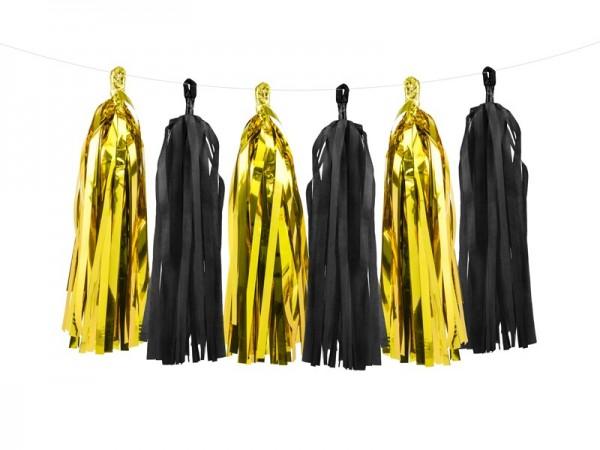 Black Celebration Tasselgirlande 1,5m x 30cm