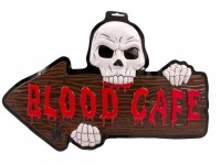Blood Cafe 3D Schild