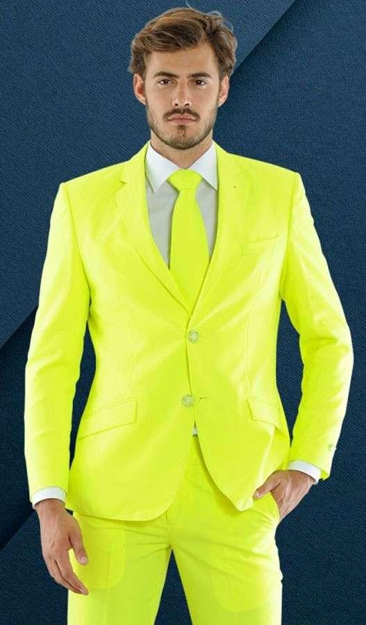 Neon Gelber Party Herren Anzug