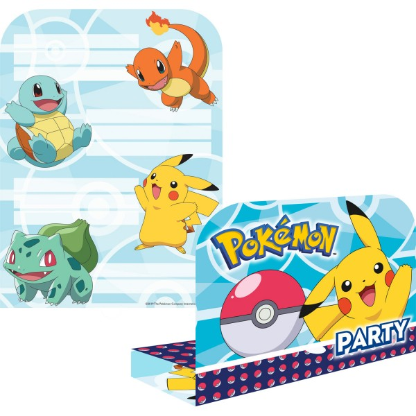 8 cartes d'invitation Pokémon Master