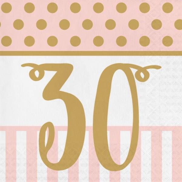 16 Lovely 30th Birthday napkins 33cm
