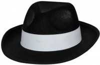 Mafia-Boss Hut Schwarz