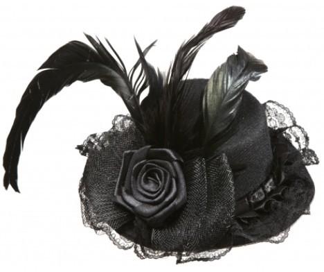 Üppiger Schwarzer Minihut Für Damen