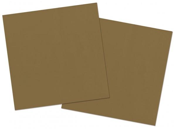20 servilletas Cleo dorado 33 x 33cm