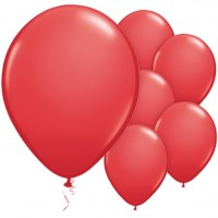 25 rote Latexballons 28cm