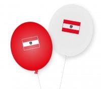 8 globos de látex de Austria