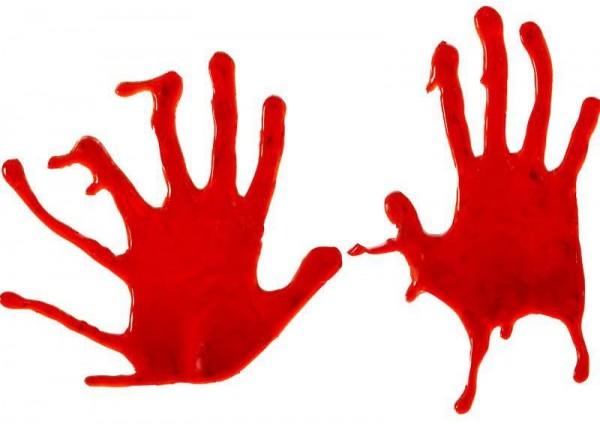 Blutige Hände Scream Fensterdeko