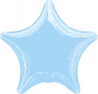 Sparkling Star Ballon babyblau