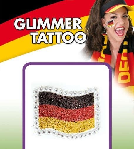 Deutschland Fan Glitzer Tattoo