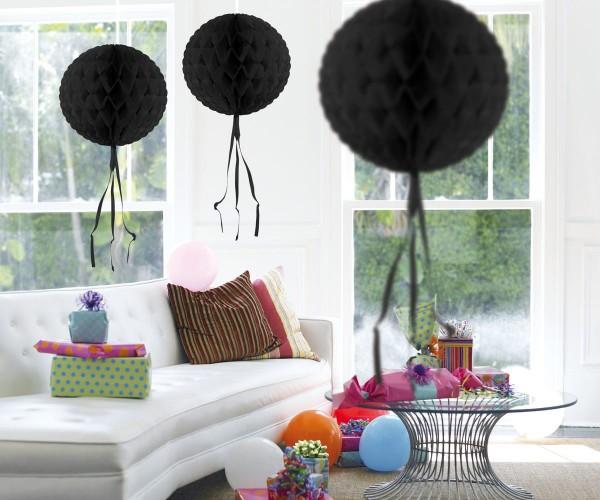 Honeycomb ball black 30cm