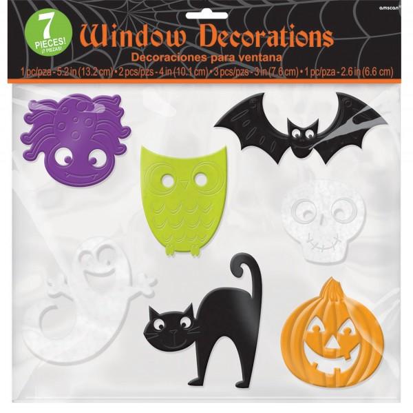 7 Hexenritt Halloween Fenstersticker