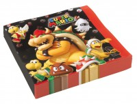 20 Super Mario Villains Servietten 33cm