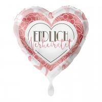 Endlich verheiratet Herz Folienballon 43cm