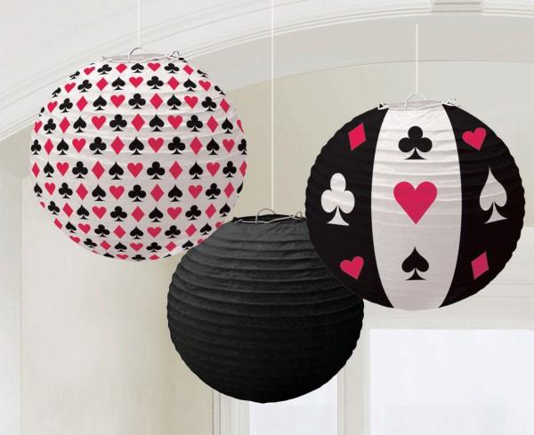 Lanterne de tournoi de poker Las Vegas 24cm