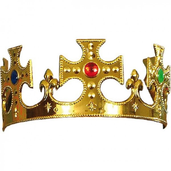 Royal crown with precious stones