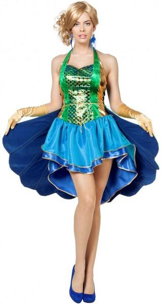 Schillerndes Pfauen Kleid