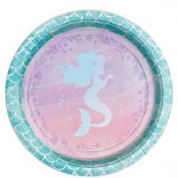 8 Mermaid Treasures Pappteller 22cm