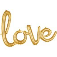 Goldener Love Schriftzug 78 x 53cm