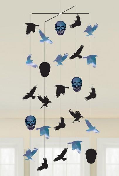 Shimmer Skull Halloween Mobile 1m