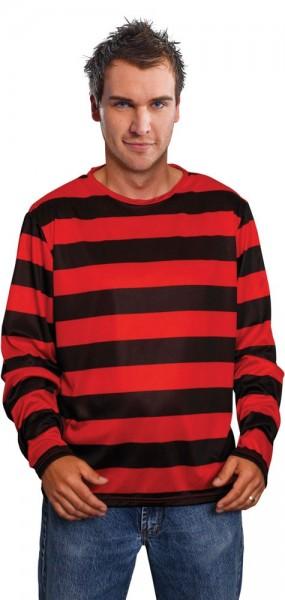 Maglione con il nero rosso rigido