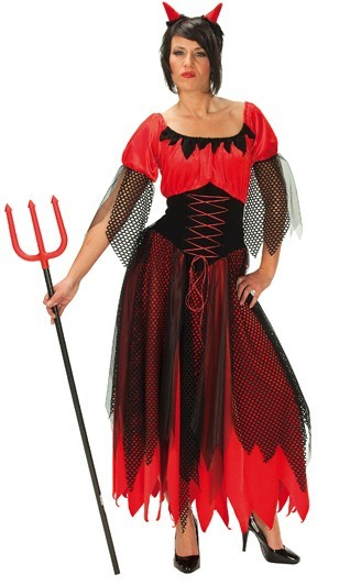 Devil woman dress costume