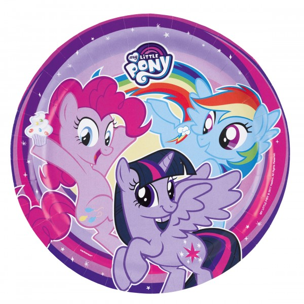 8 piatti My Little Pony 23cm