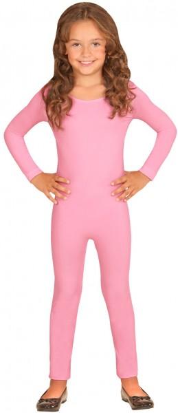 Long-sleeved children's bodysuit pink