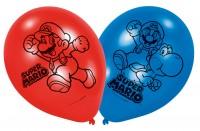 6er Set Super Mario Luftballons 23cm