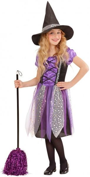 Hexe Violetta Mädchen Kostüm