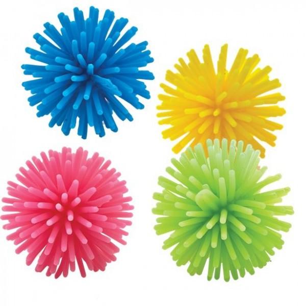 8 pompons en caoutchouc colorés