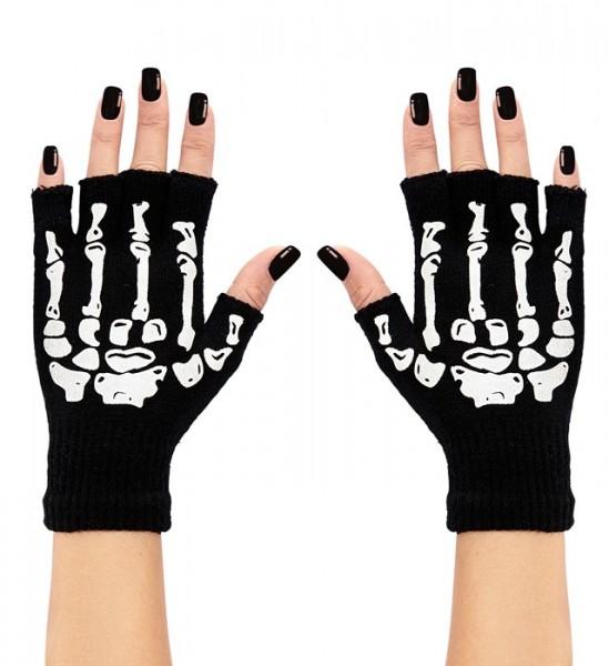Skelett Finger Handschuhe