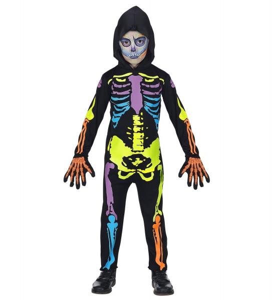 Costume scheletro colorato per bambini