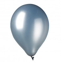 9 Metallic Latexballons Island Silber 30cm