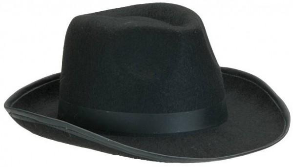 Cappelo Al Capone nero Gangster
