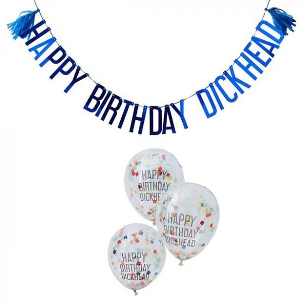 Naughty Birthday Girlanden & Ballonset
