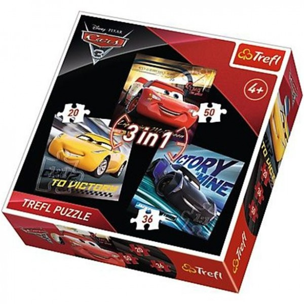 Disney Cars Puzzle Set 3 in 1