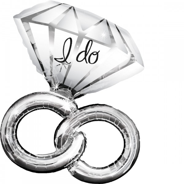 Diamond Wedding.Rings Folienballon
