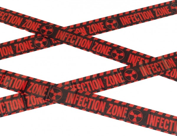 Infection Zone Absperrband 600cm 1