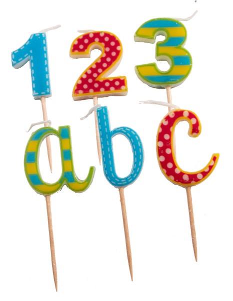 6 bougies de gâteau de départ d'école 7cm